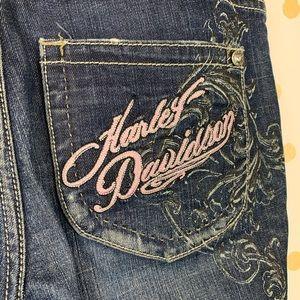 Harley-Davidson Embellished Graphic Print Jeans